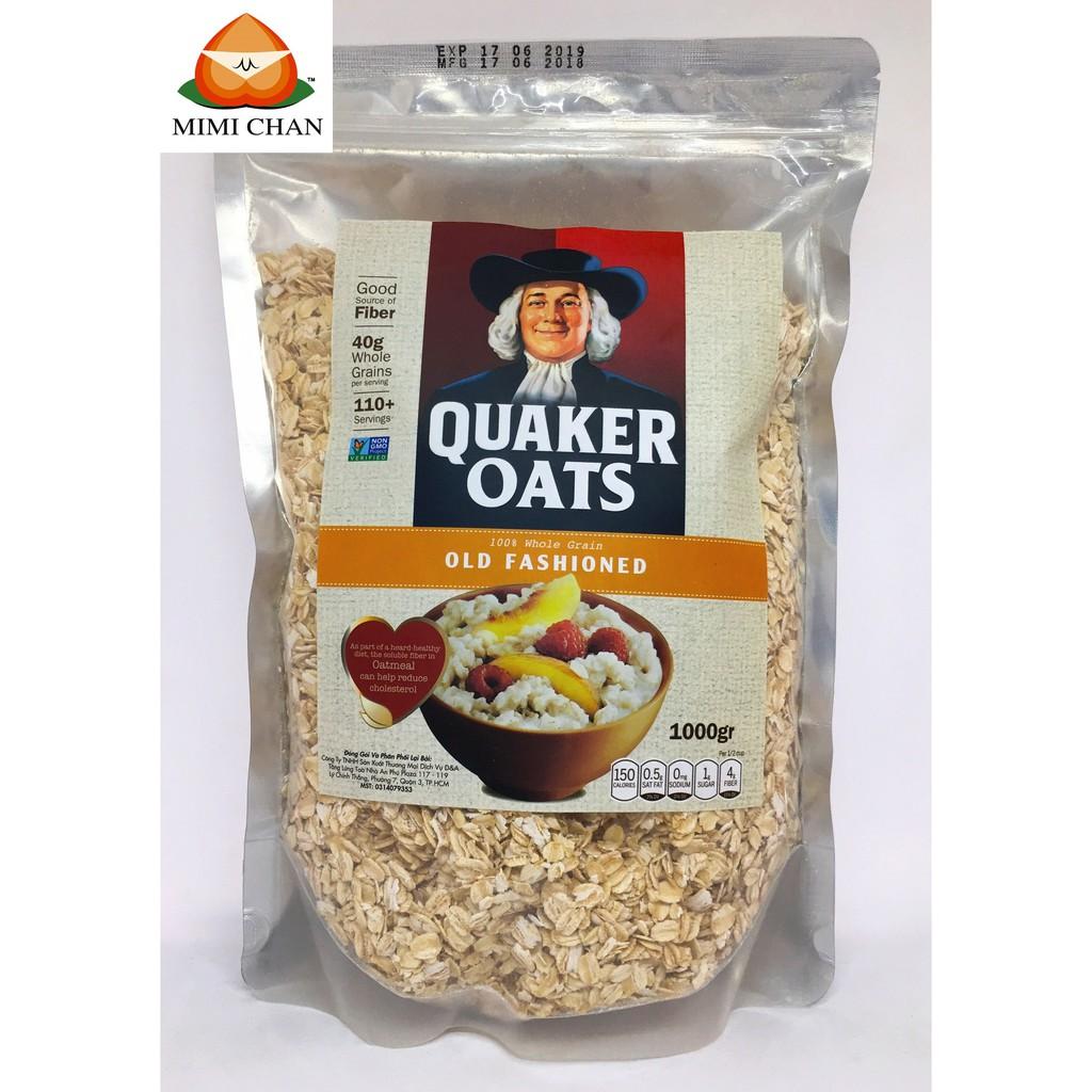 Yến Mạch Mỹ Quaker Oats Túi Zip 1kg (Nguyên chất 100%)