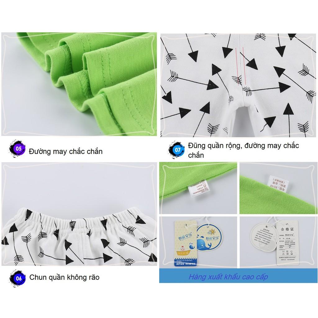 Bộ dài tay cotton 100% TQXK cao cấp 6 tháng-4 tuổi chất mịn 10 mẫu siêu đẹp