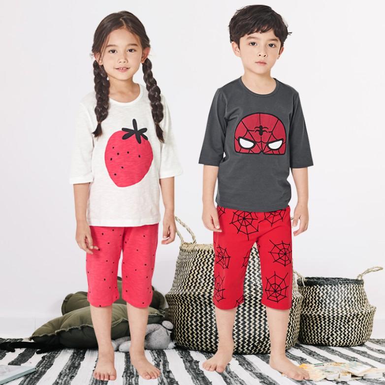 Bộ đồ lửng trẻ em Unifriend Hàn Quốc cho bé trai, bé gái 02