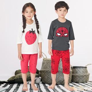 Đồ bộ cotton cho bé trai, bé gái mùa hè Unifriend U21-02