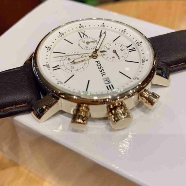 Đồng hồ nam Fossil BQ1009 Chronograph dây da nâu cao cấp