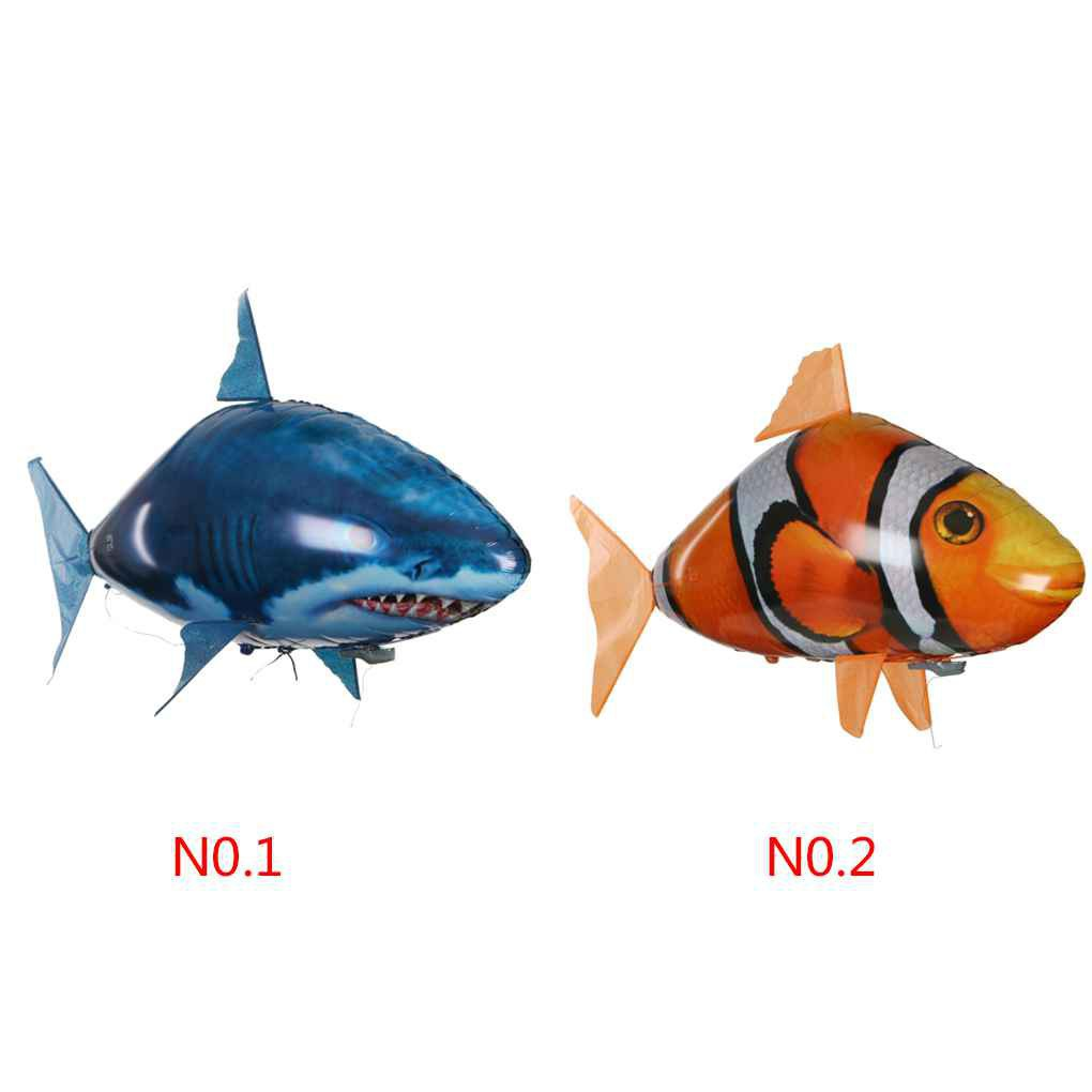 Remote Control Air Fly Fish Shark Kids Toys Clown Fish Balloons Inflatable_FF86