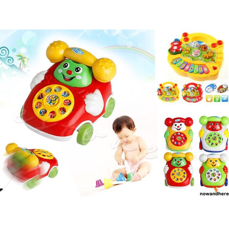 NVO-Baby Toys Music Cartoon Phone Educational Developmental Kids Toy Gift