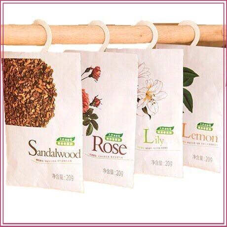 (DEAL NGẬP TRÀN)túi hương thơm để trong tủ quần áo có móc treo