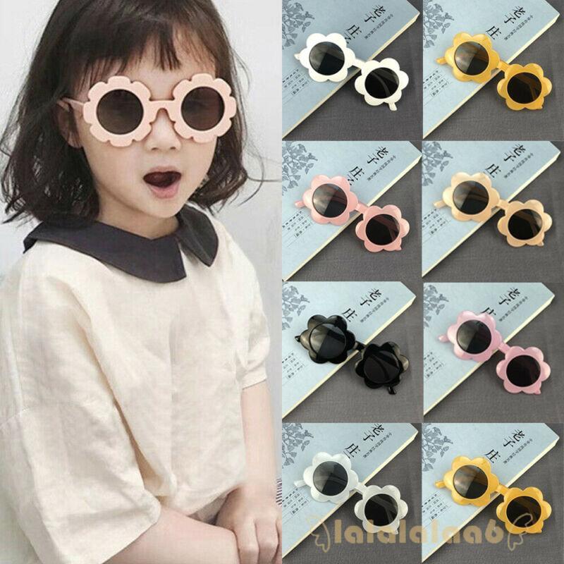 ◕ω◕Kids Flower Frame UV400 Outdoor Sunglasses Accessories for 3-12 years old