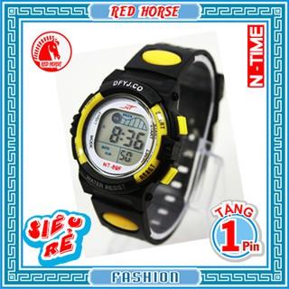 Đồng hồ điện tử trẻ em bé trai, bé gái NT-89F (Vàng)