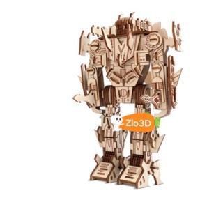Đồ chơi lắp ráp gỗ 3D Mô hình Robot Bumblebee Laser