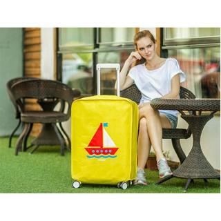 Áo trùm bảo vệ vali chống bụi chống trầy xinh xắn 28 inch thuyền vàng thumbnail
