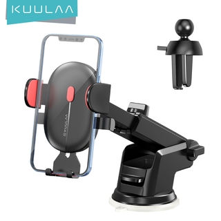 KUULAA Multifunctional Dashboard Air Outlet Suction Cup Gravity Telescopic Car Bracket Automatic Clamping Suitable for Android IPhone