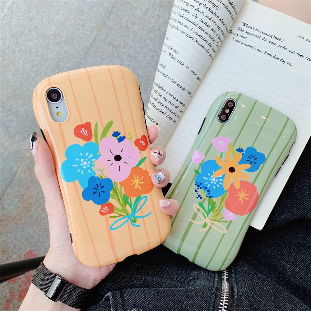tup all-inclusive back protection for iphone case for iphone orange flower iphone case