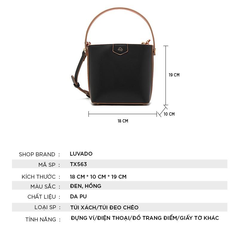 Túi đeo chéo nữ đẹp dễ thương MICOCAH nhiều ngăn đi chơi LUVADO TX563