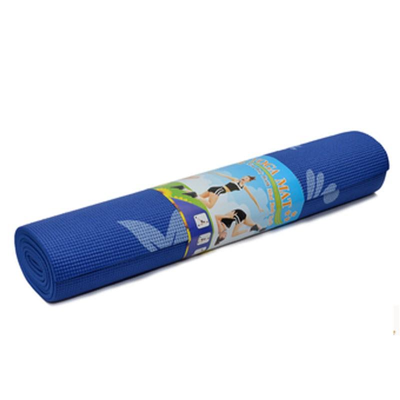 Thảm tập yoga có hoa văn không kèm túi VRG00570 - xanh dương