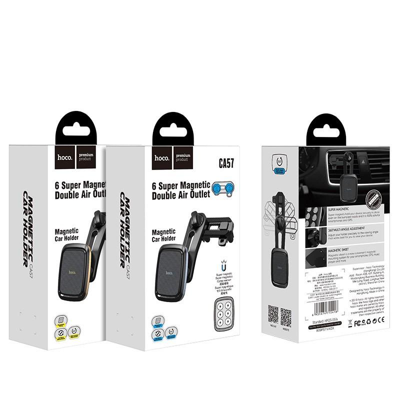 [Thoto Shop] Giá đỡ điện thoại HOCO CA57 đế hít nam châm, gắn cửa gió điều hòa trên ô tô - hàng chính hãng