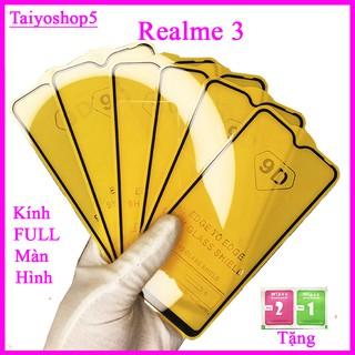Kính cường lực REALME 3 full màn hình, Ảnh thực shop tự chụp, tặng kèm bộ giấy lau kính taiyoshop5 thumbnail