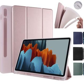 Bao da máy tính bảng PU có khe cắm bút cho Samsung Galaxy Tab S7 T870 T875