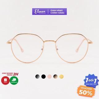 Gọng kính thời trang mắt đa giác tối giản Elmee chất liệu kim loại nhiều màu E29120 thumbnail