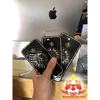 Ốp lưng Iphone Logo chrome Heart gương kính đủ mã 6,6 plus ,7,7 plus ,8,8 plus ,iphone X giả iphone 8 8 plus logo táo
