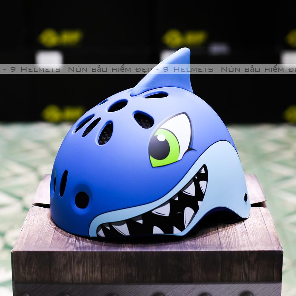 Mũ Bảo Hiểm Trẻ Em Cá Mập Xanh Lá