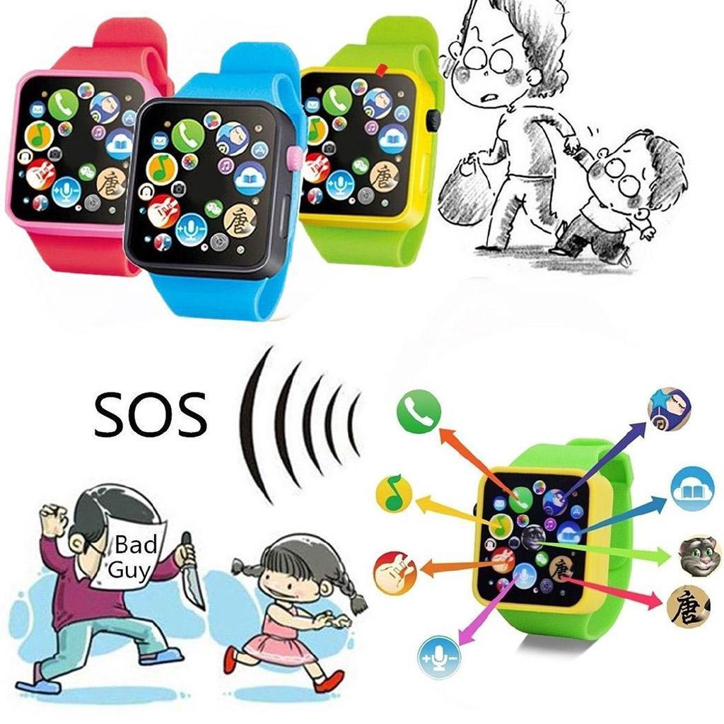 ❤COD New Fashion Music Touch Button Battery Watch Toys for Children