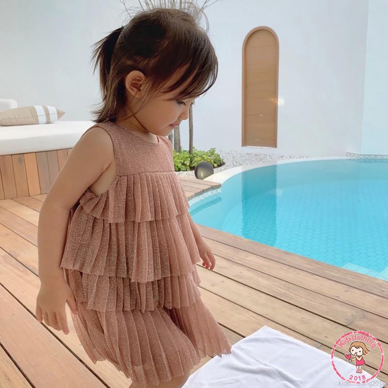 Đầm xòe công chúa kiểu dáng Hàn Quốc dùng cho bé gái