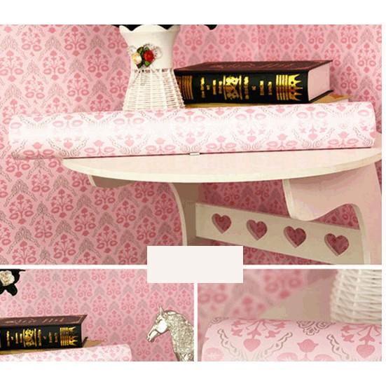 Giấy dán tường châu âu hồng họa tiết