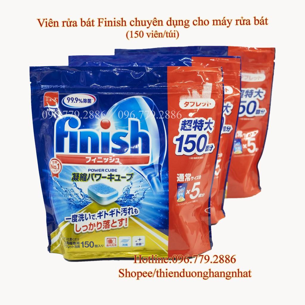 Viên rửa bát Finish chuyên dụng cho máy rửa bát (150 viên/túi) - Nội Địa Nhật
