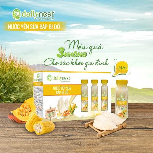Image result for Thiên Việt Nước yến sữa bắp bí đỏ Dailynest hộp 6 chai