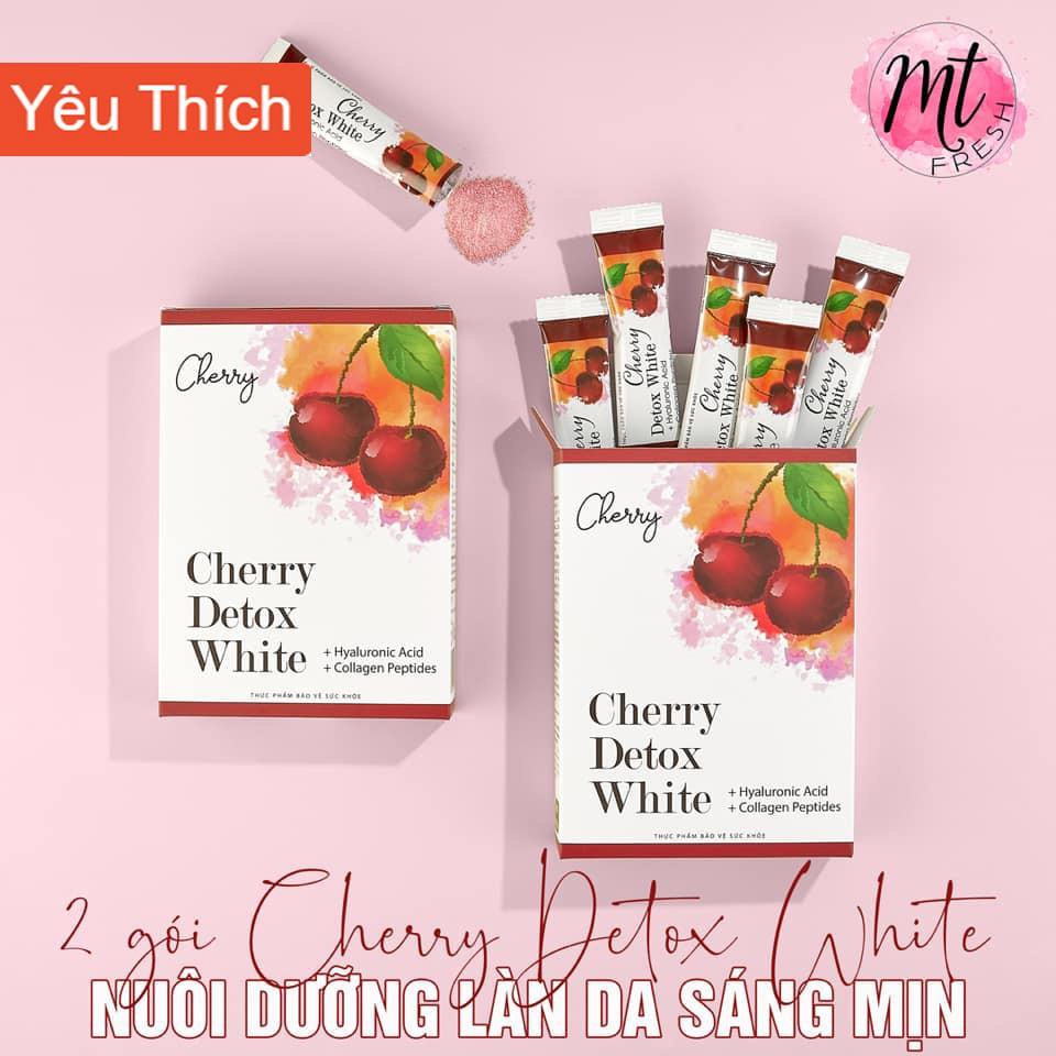 Cherry Detox WHITE Giữ Dáng Đẹp Da giảm lão hóa, bổ sung collagen