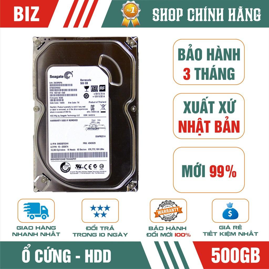 Ổ cứng HDD 500GB Seagate -Tặng kèm cáp SATA – Bảo hành 3 tháng 1 đổi 1 Giá chỉ 259.000₫