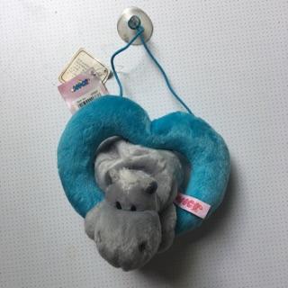 Gấu bông hà mã NICI tim xanh