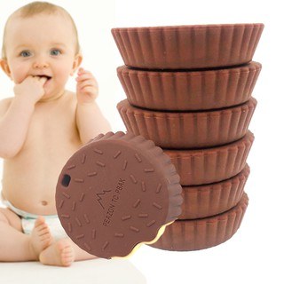 ✯apoint✯Chocolate Shape Baby Silicone Teether