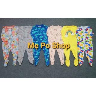 Body Sleepsuit, Bodysuit, Body Sleep Dài Cotton Liền Tất Vớ Cho Bé Trai Bé Gái 0-24months, Hàng xuất xịn.