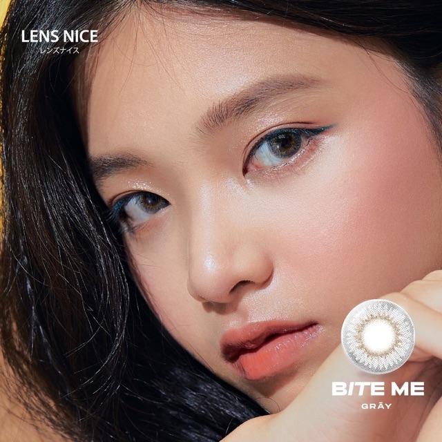 Kính áp tròng Bite me gray 0 độ - lens nice japan