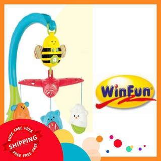 [Giá Cực Sock] Treo cũi hình động vật có nhạc winfun- 0856