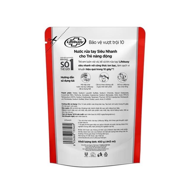 Túi Nước Rửa Tay Lifebuoy 450g