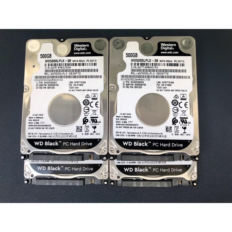Ổ cứng laptop 2.5inch Western Black 500GB mỏng 7200rpm zin tháo máy