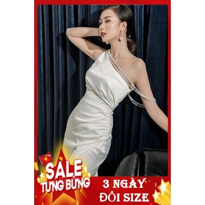 2054985018 - Váy đầm nữ dự tiệc body lệch vai dây ngọc - Váy Đầm Thiết Kế Cao Cấp Alula