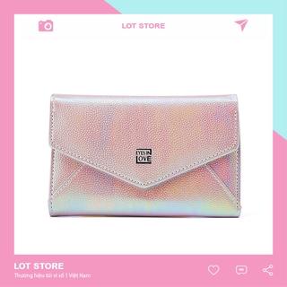 Ví nữ cầm tay mini ngắn nhỏ gọn FOREVER FOR YOU bỏ túi nhiều ngăn thời trang cao cấp LOT STORE VD346 thumbnail