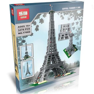 Mẫu lắp ráp Tháp Eiffel Tower Architecture Lepin 17002 Lego 10181
