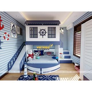 Thiết Kế Nội Thất Phòng Ngủ Bé Trai – PNT.056 - Hệ thuyền biển