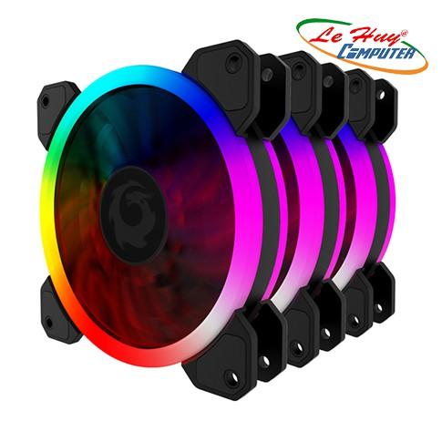 BỘ COMBO 3 FAN TẢN NHIỆT RGB FORGAME COLOURED GLAZE-KÈM ĐIỀU KHIỂN