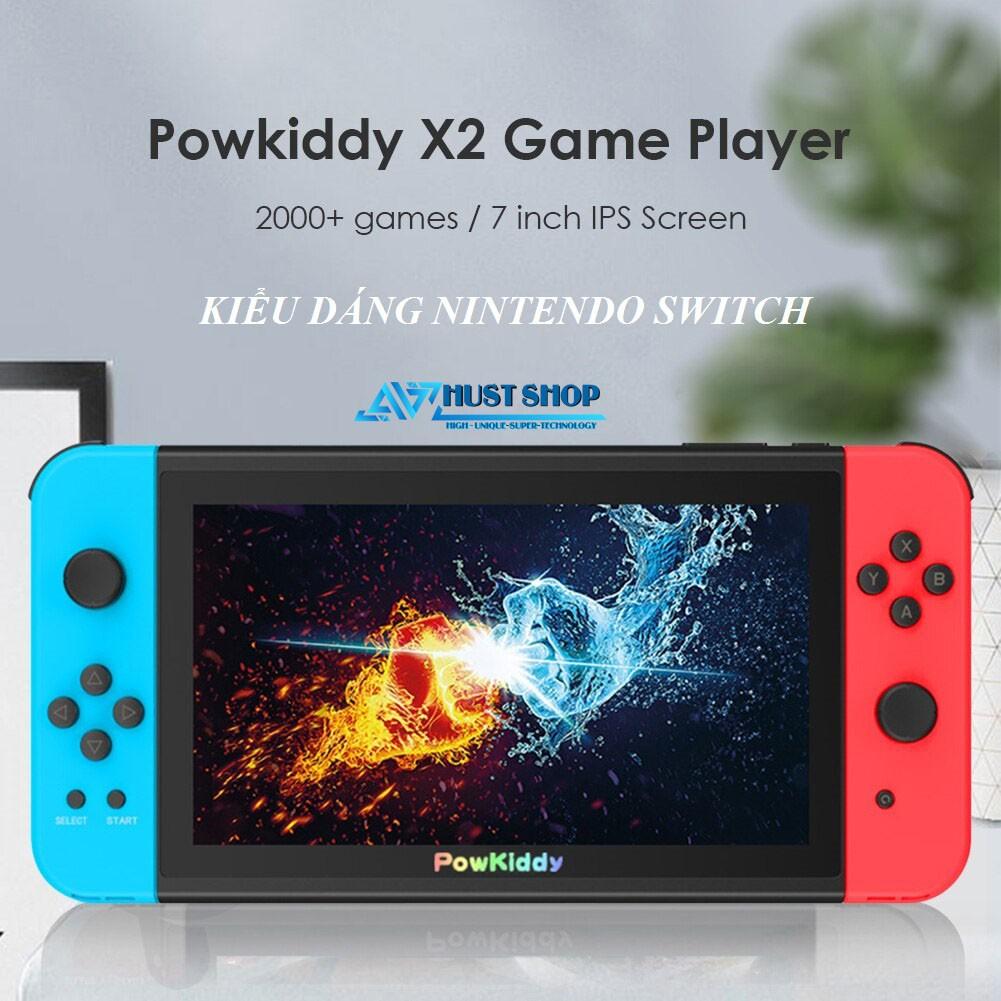 Máy Chơi Game Powkiddy X2 Kiểu Dáng Nintendo Switch Màn Hình 7 inch IPS HD Chơi Game PS1 Tích Hợp 2000+ Games