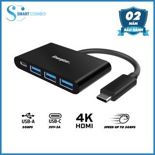 [Mã ELRE80 giảm 8% đơn 250K] Bộ chuyển USB - C 3.1 Hub Energizer 3USB-A/1USB -C-HC304AC - Hàng chính hãng