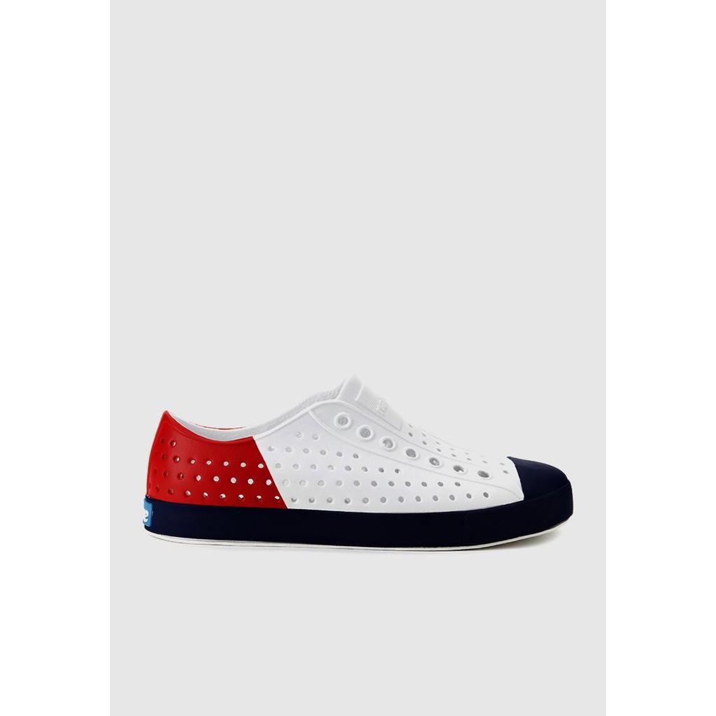 Giày Lười Unisex Native AD JEFFERSON BLOCK (111001028483) SHELL WHITE/ REGATTA BLUE/ TRCHBLOC