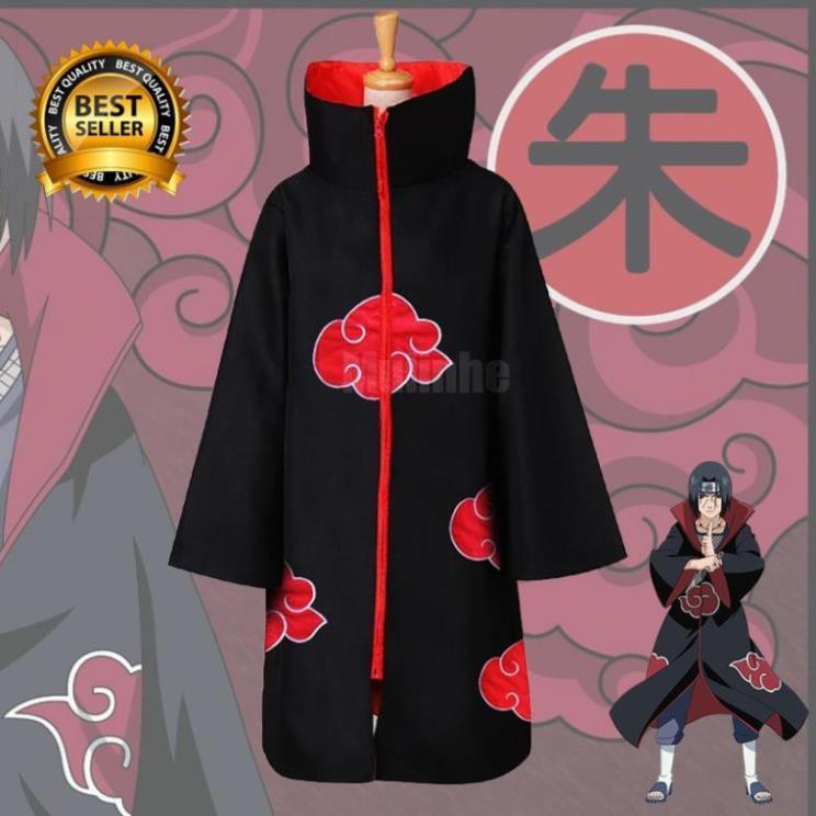 RẺ VÔ ĐỊCH- [HÀNG CÓ SẴN] Áo choàng Akatsuki Cosplay phim Naruto- áo Anime đẹp giá rẻ chất lượng !