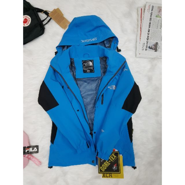 Áo khoác 2 lớp đa năng chống nước, chống lạnh,chống gió,chống nắng màu xanh