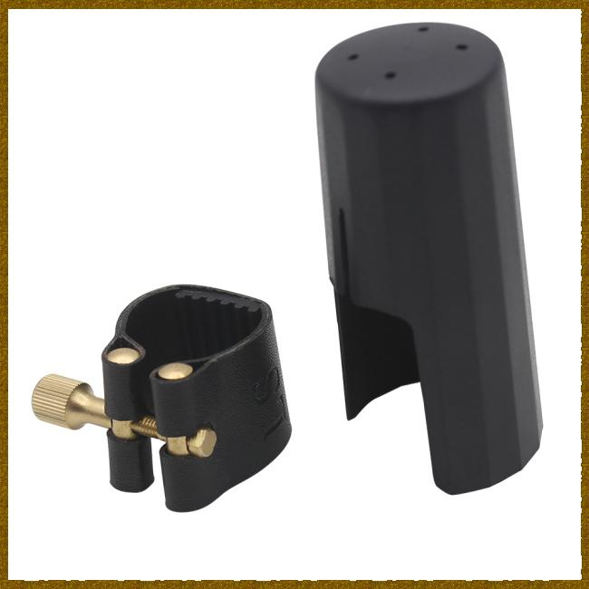 PU Leather Bb Clarinet Mouthpiece Ligature and Cap Fastener