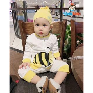 Quần áo trẻ em, trẻ sơ sinh hình thú Ong Vàng vải cotton dài tay cho bé 4 – 15 kg