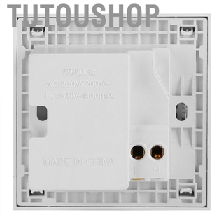 Tutoushop 4 Ports Switch Control 5V USB Wall Mounted Power Socket Charger Outlet