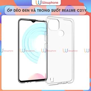 [Mã INCU1114 giảm 25% đơn 99K] Ốp Lưng Realme C21Y C20 Silicone Dẻo Trong Suốt Và Dẻo Đen Wowphone thumbnail